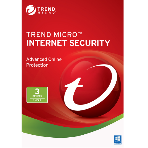 Trend Micro Internet Security 2019 1 Year 3 Pc